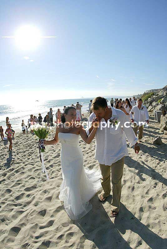 San Clemente State Beach Wedding Photograph Description